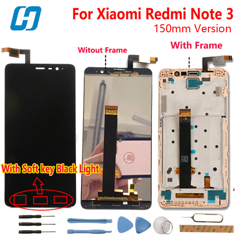 Xiaomi Redmi Note 3 LCD Display Touch Screen Digitizer Glass Panel Assembly Screen For Xiaomi Redmi
