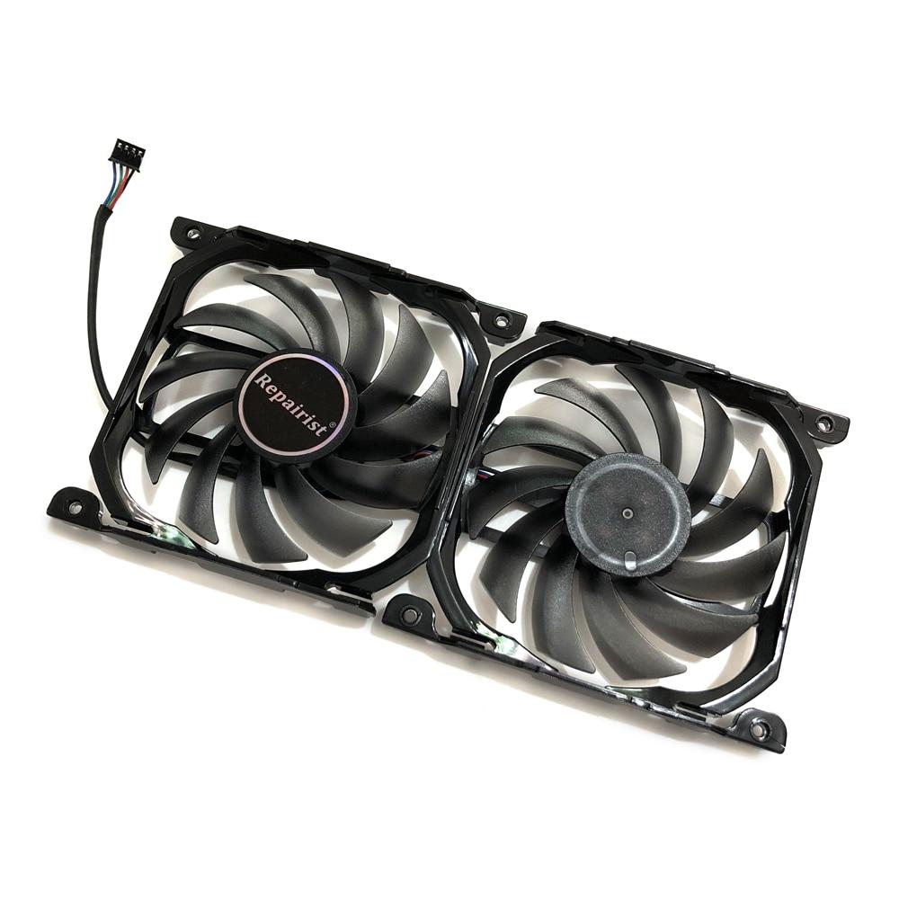 2pcs set InnoVISION GTX1080TI 1080 X2 GPU VGA Card Cooler Fan For INNO3D GEFORCE GTX 1080