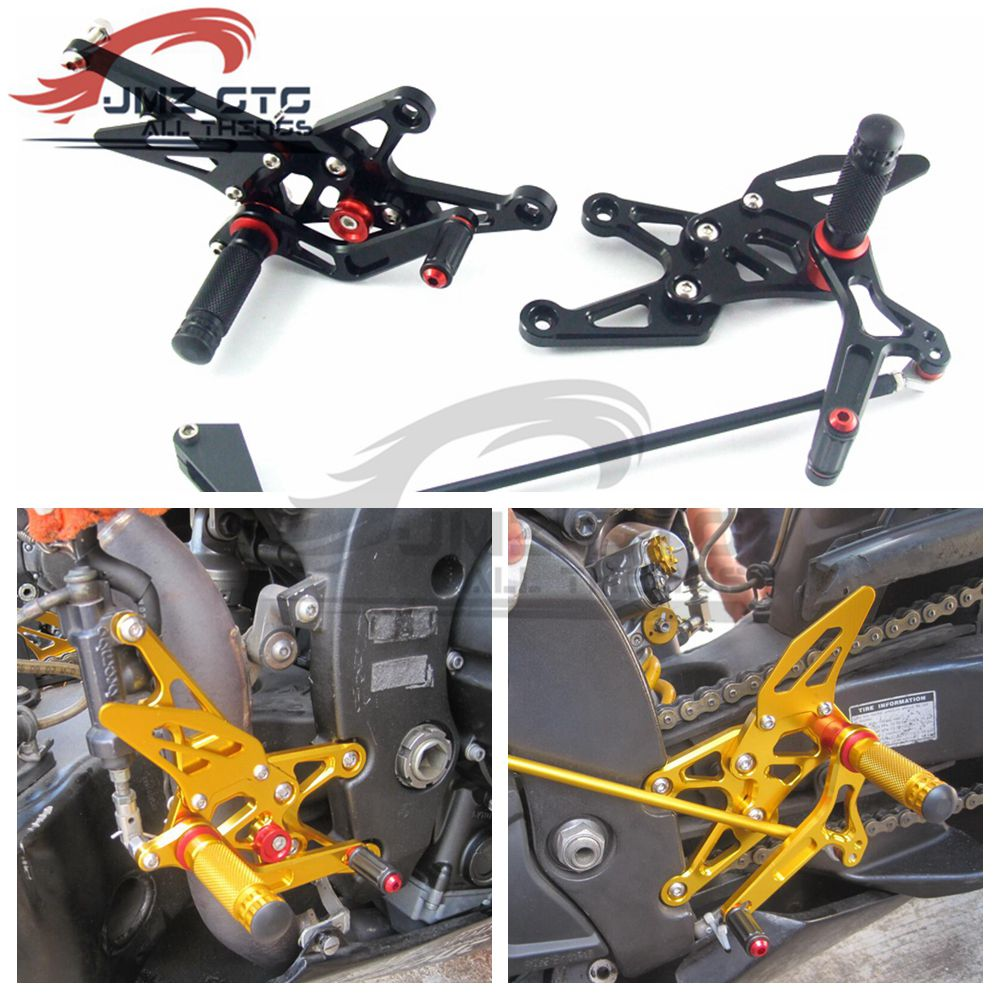 Motorcycle CNC Adjustable Rear Set Rearsets Footrest Foot Rest For YAMAHA R1 2007 2008