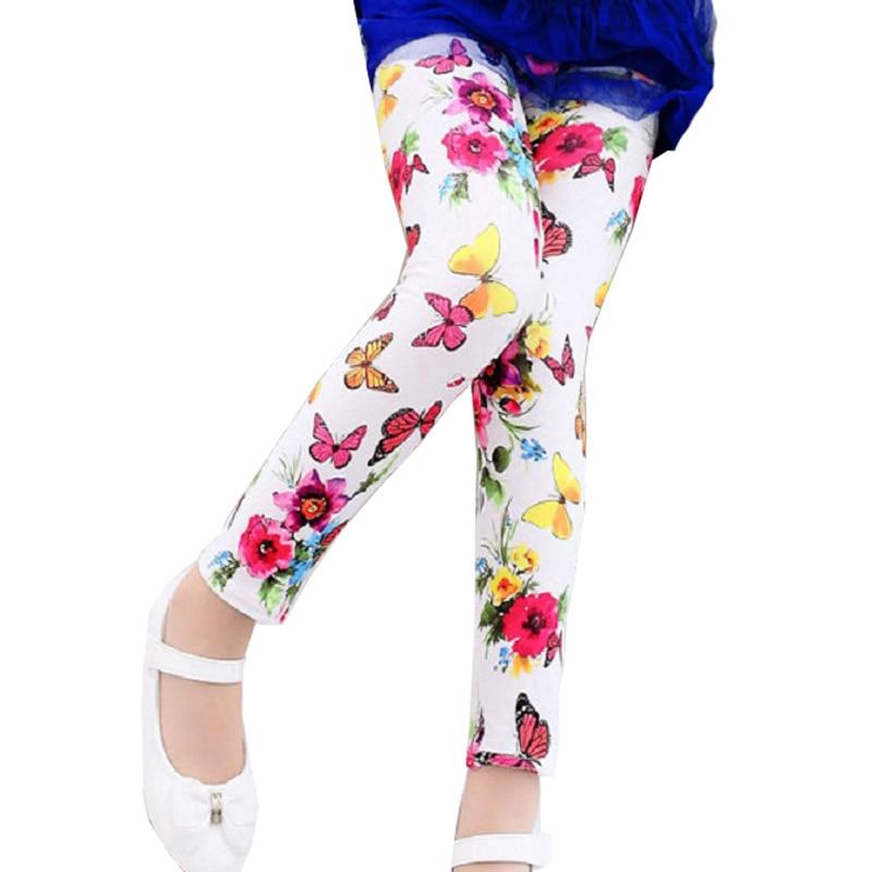 Multi Color Girl Pant Printing Flower children pants Spring Autumn kids leggings skinny girls leggings Kids Clothing girl