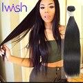 Iwish Official Store Brazilian Straight Virgin Hair 3 Bundle Deals Brazilian Straight Human Hair Soft Brazilian Virgin Hair