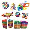 54pcs Big Size Magnetic Building Blocks Triangle Square Brick Designer Enlighten Bricks Magnetic Toys Free Stickers