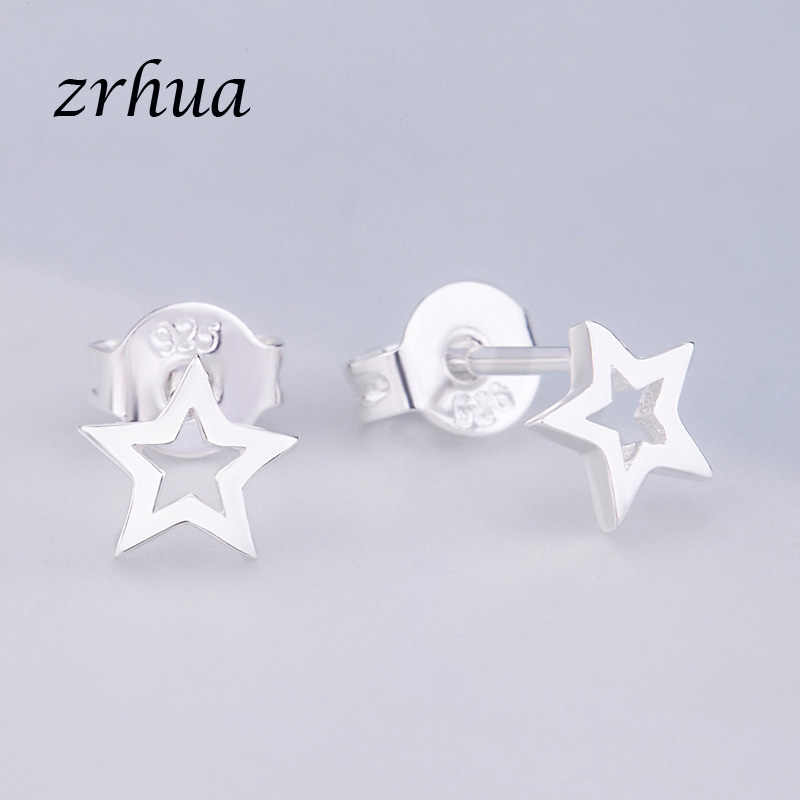ZRHUA Newest 925 Silver Cute Elegant Stud Earrings for Women Girls Small Gifts Hot Sale 925 Stamp Jewelry Female Party Brincos