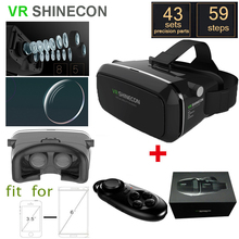 SMART VR SHINECON Moke Version VR 3D Glasses google cardboard HD VR Glasses+smart Bluetooth Wireless Mouse gamepad with package