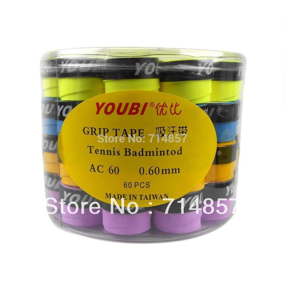 Original 60 pieces of YOUBI AC60-2 tennis / badminton grip