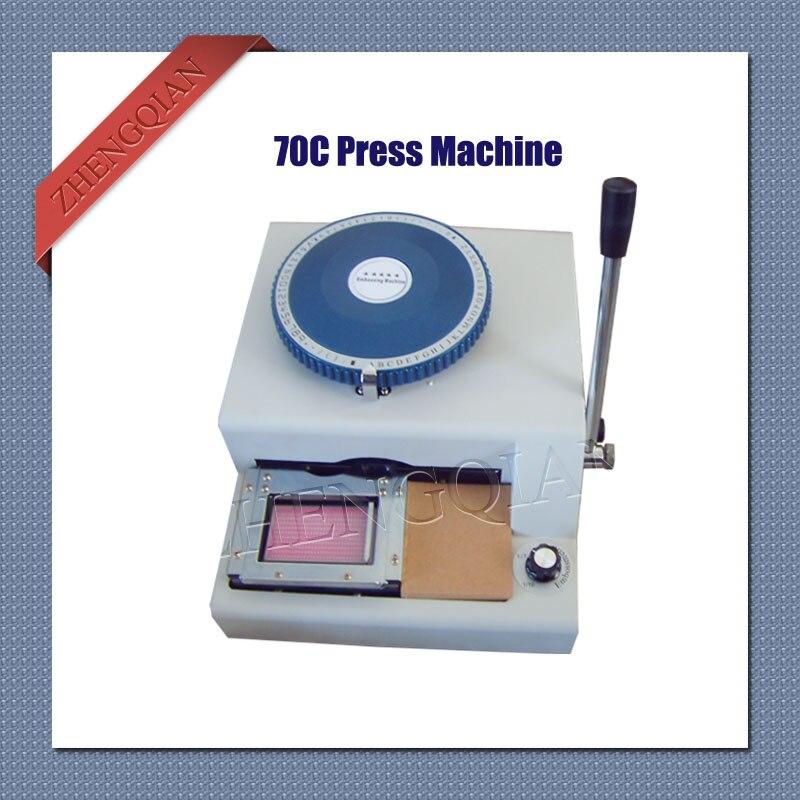 マニュアル pvc カードプレス機 70C 文字 m/V