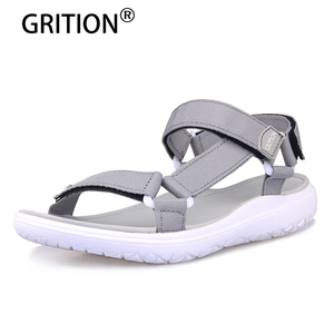 Image 1 - GRITION Women Outdoor Quick Drying Flat Sandals Ladies Soft Light Weight Beach Sandals Fashion Summer Casual Walking Shoes Blue