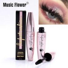 Music Flower Mascara 4d Fiber Lashes Silk Waterproof Rimel 3D Thick Black Lash Eyelash Extension Lengthening Eyes Makeup