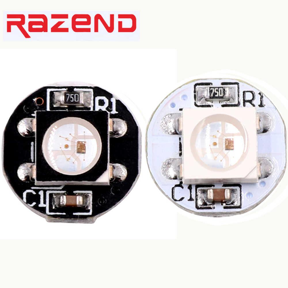 100 Adet Adresli WS2812B SK6812 Led mini kurulu WS2811 IC SMD5050 RGB/RGBW/WWA/RGBNW/RGBWW led piksel düğüm Beyaz/Siyah PCB 5 V