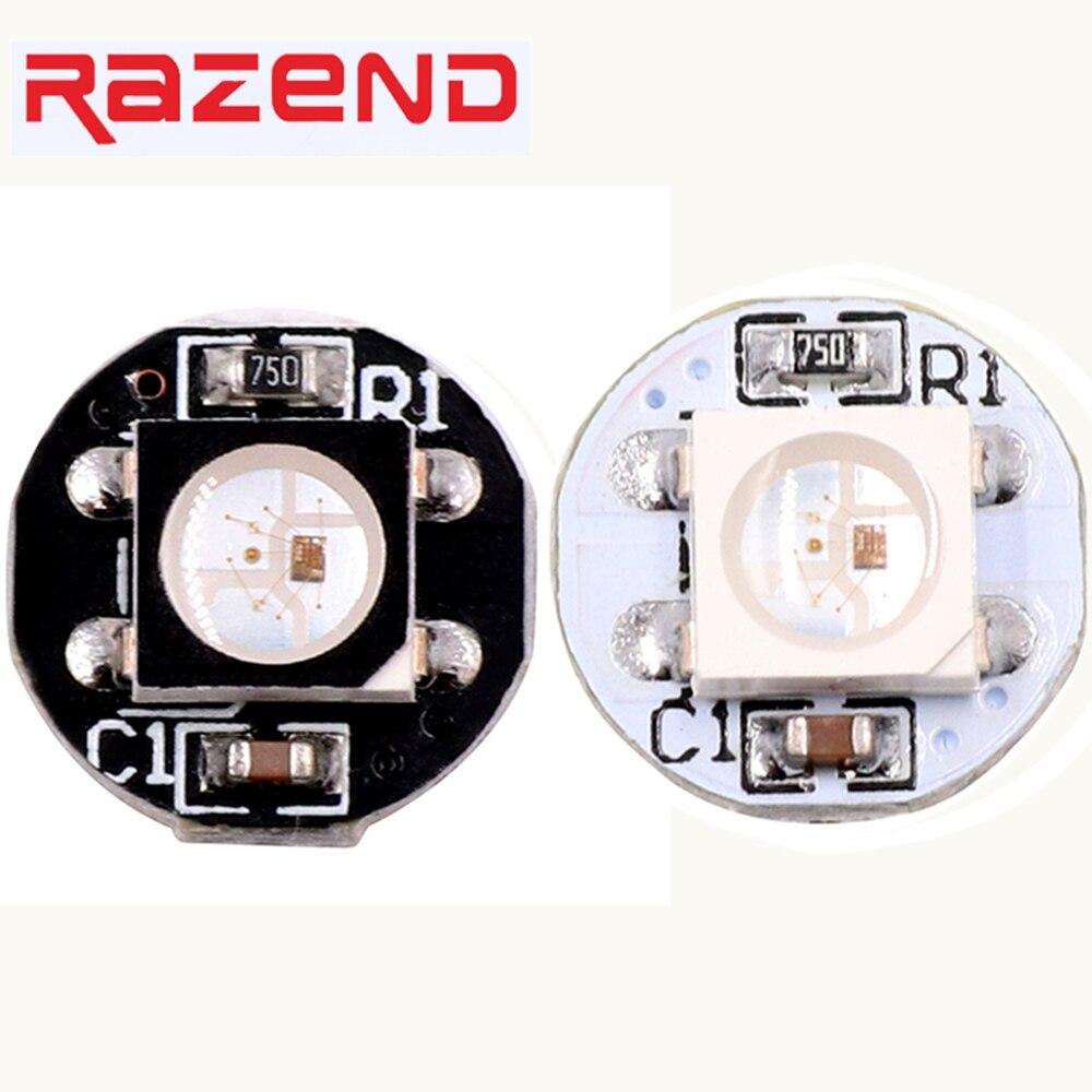 100Pcs Addressable WS2812B SK6812 Led Mini Board  WS2811 IC SMD5050 RGB/RGBW/WWA/RGBNW/RGBWW Led Pixel Node White/Black PCB 5V