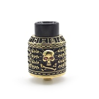 High quality Riscle Pirate King V2 squonk bf RDA 24mm Adjustable airflow Rebuildable Dripping Atomizer for vape mods/mech mod