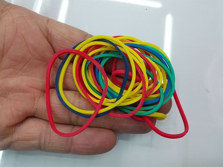 stationery and office holder A colorful elastic band with good elasticity tape holder color 25mm rubber band in Stationery Holder from Office School Supplies