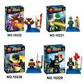 Бела 10229 10230 10231 10232 человек - летучая мышь Riddler робин летучая мышь супер герои строительный блок игрушки пакет из 4 шт.
