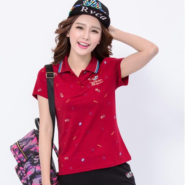 Spring Autumn Dragonfly embroidery Polo Shirt Women 2017 Long Sleeve Slim  Polos Shirts Tops Fashion Plus