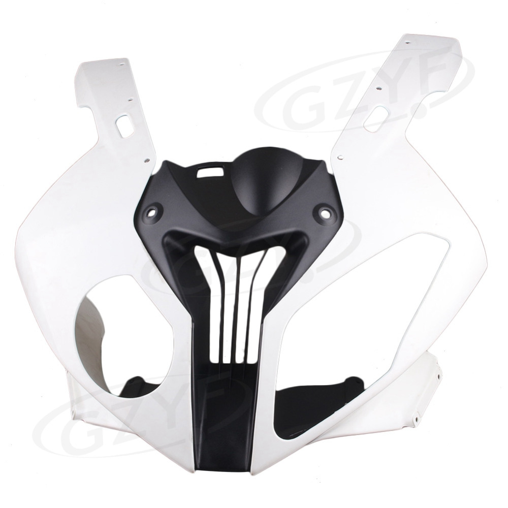 Motorcycle Upper Front Cowl Nose Plastic Fairing for BMW S1000RR 2010 2011 2012, Injection Mould Spare Parts Acessories new upper fairing unpainted front cowl head for honda cbr 250 rr 2011 2012 2013