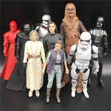 character model toy Chewbacca& KYLO REN & Red-Snoke & Imperial Stormtrooper & LEIA ORGANA &Black Warriors Collection