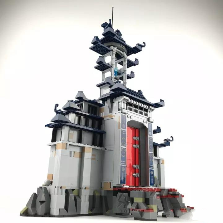 Фотография 1443Pcs Ninja Temple of The Ultimate Weapon Movie Model Building Kits Blocks Bricks Toy For Children Compatible lepins figures