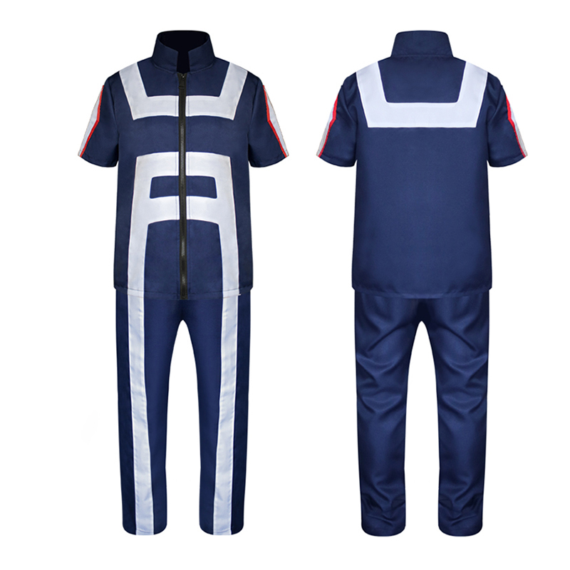 Anime Boku No Hero Academia All Roles Gym Suit High School My Hero Academia Uniform Sports Wear Outfit  Cosplay Costumes