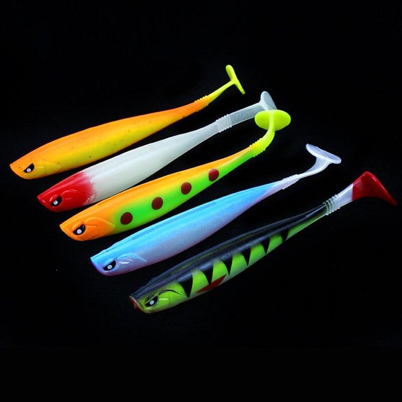 3Pcs/lot 12cm/10g Rainbow Soft Bait Artificial Lures Baits Fishing Lure leurre shad Plastic T Tail Wobblers