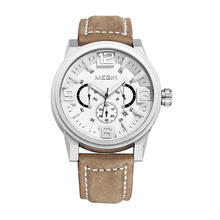 Fashion Men's Quartz Watches 2016 New Arrival Three Waterproof Sports Watch Genuine Leather Belt Men Luminous Watch Charm