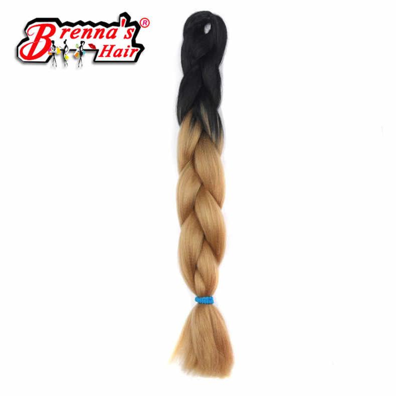 24 дюйма Eunice Джамбо косы синтетические волосы для наращивания крючком для скручивания прядей два тона Омбре синий/розовый/фиолетовый/бордовый цвета