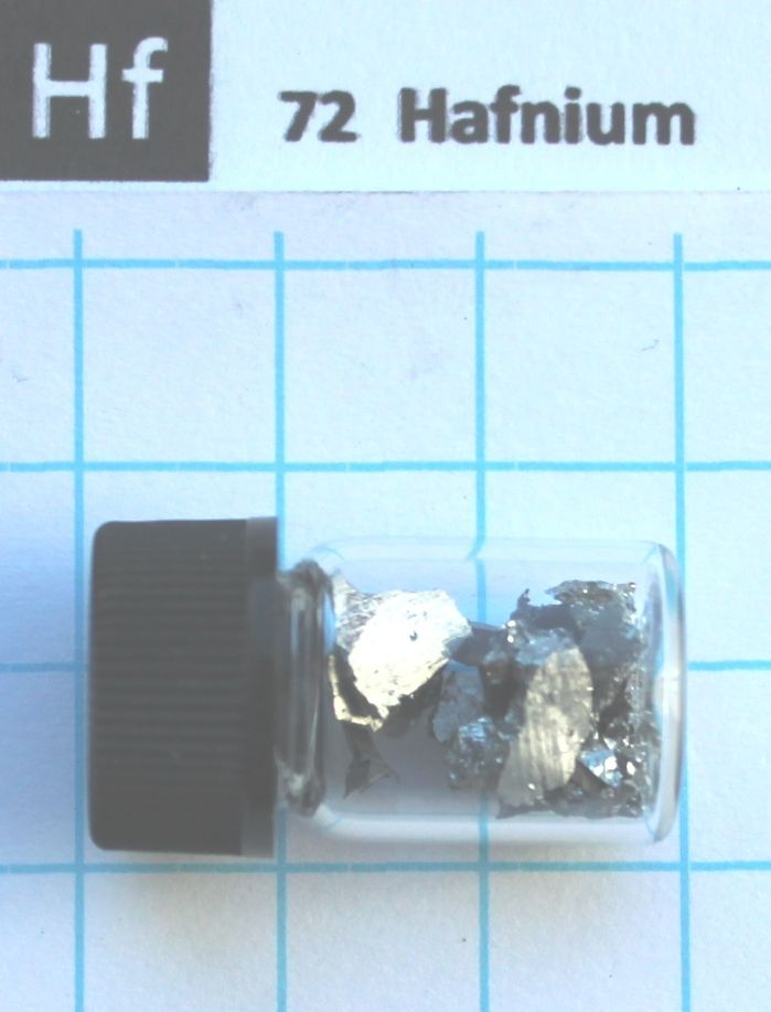 Hafnium metal element 72 Hf sample crystals 5 gram 99,99% in labeled glass vial купить недорого в Москве