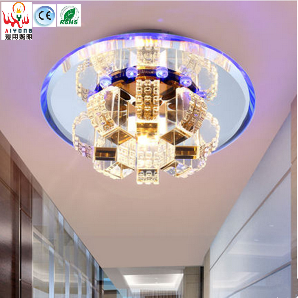 Flower LED Crystal Ceiling Aisle Aisle lights can be embedded in the color of the balcony lights modern warm spotlights ночная рубашка the flower of love