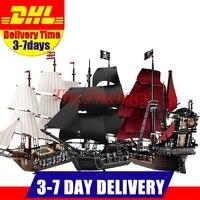 Лепин 22001 имперский военных кораблей + 16006 черный жемчуг корабль + 16009 Queen Анны месть пиратский корабль Игрушечные лошадки клон 10210 4184 4195