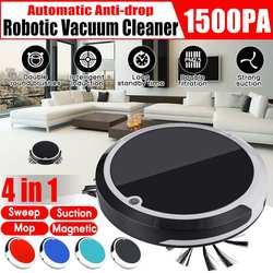4 ב 1 נטענת אוטומטי ניקוי רובוט חכם גורף רובוט לכלוך אבק שיער אוטומטי מנקה לבית חשמלי שואבי אבק