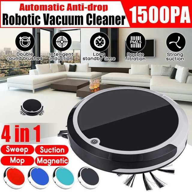 Home 4 in 1 Rechargeable Auto Cleaning Robot Smart Sweeping Robot Dirt Dust Hair