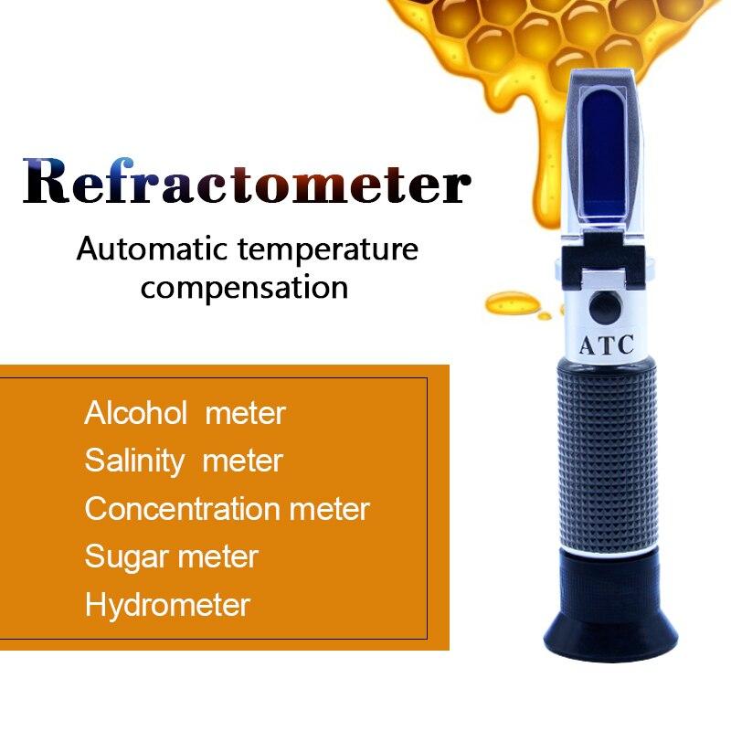 Handheld Digital refractometer sugar meter 0-100% food meter refratometro for Beer syrup Baking Cooking juice saccharimeter