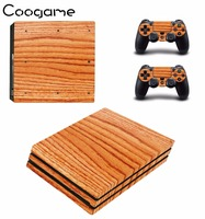 Coogame Cool Life Wood Sticker For Sony Playstation 4 Pro Console 2 Controller