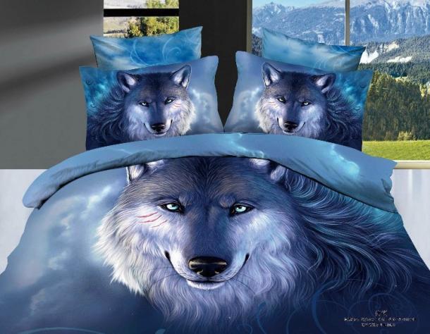 Online kopen Wholesale wolf dekbed set uit China wolf