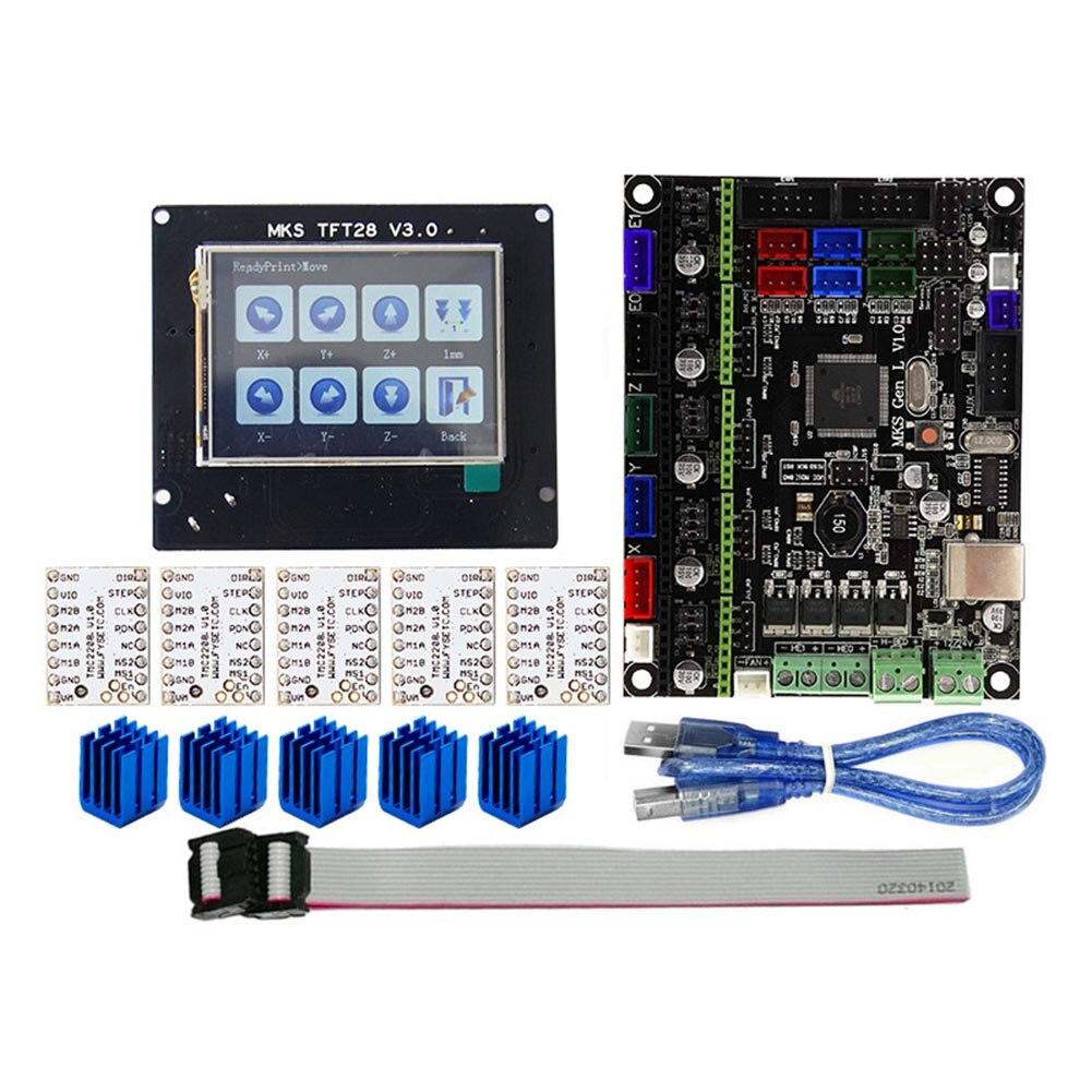 Pour MKS GEN L compatible avec TFT28 écran lcd Soutien TMC2208 Moteur Pilote 3D Kits D'impression JLRJ88