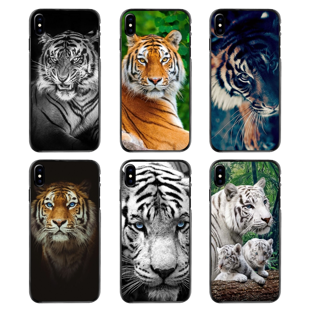 3d Black Tiger Blue Eyes Hd Wallpaper For Iphone 4 4s 5 5s 5c Se 6 6s 7 8 Plus X Xr Xs Max Ipod Touch 4 5 6 Hard Phone Skin Case Fitted Cases Aliexpress