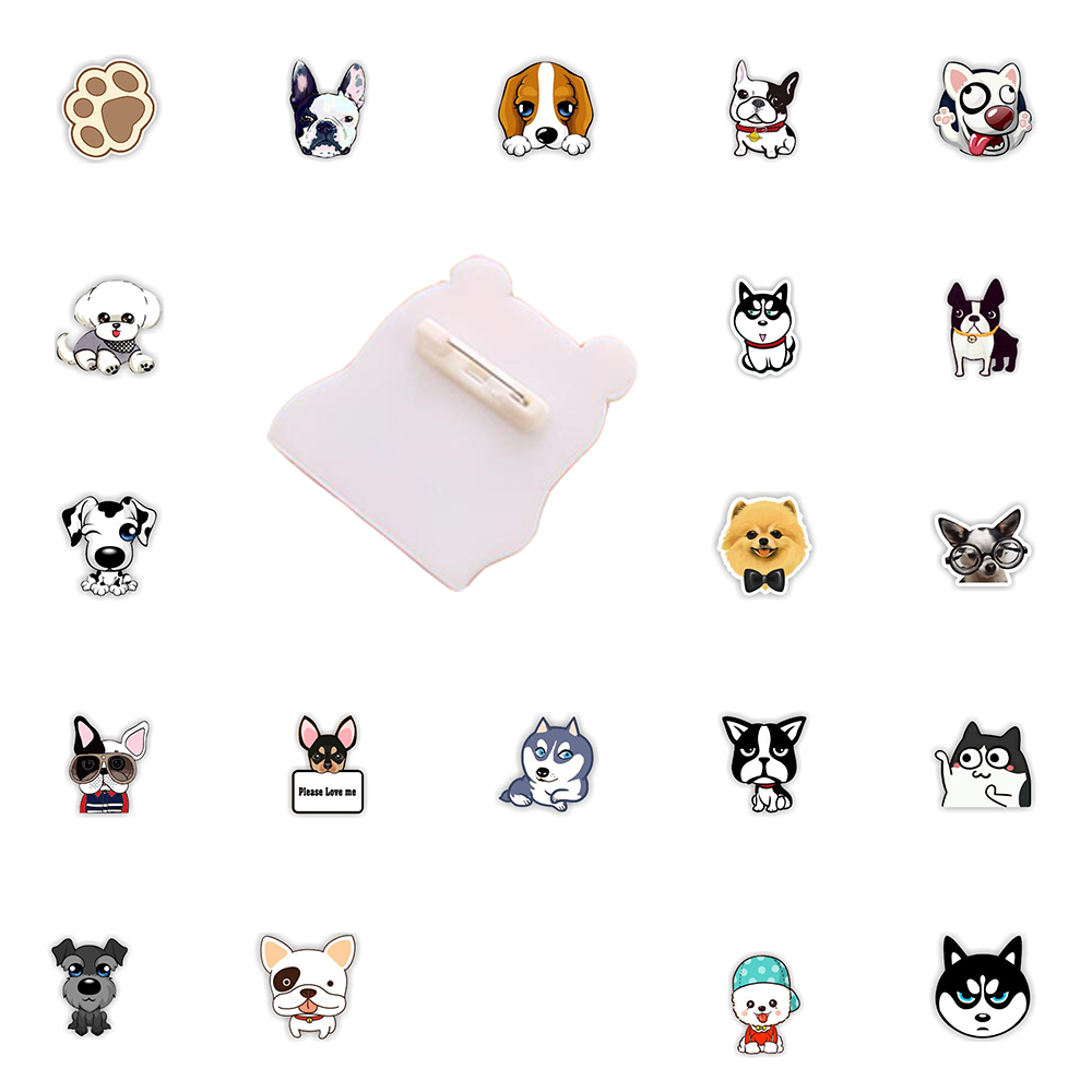 Custom Lapel Pin Brooches Huskie Dog Face Banquet Badge Pins Trendy Accessory Jacket T-Shirt Bag Hat Shoe