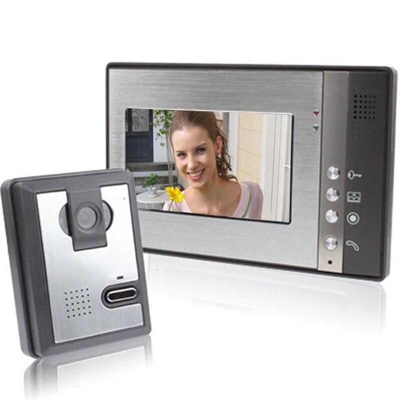 FREE SHIPPING 2015 New 7 Inch Color Video Door Phone Intercom System Video Doorbell Camera Intercom Monitors Door Bell Video
