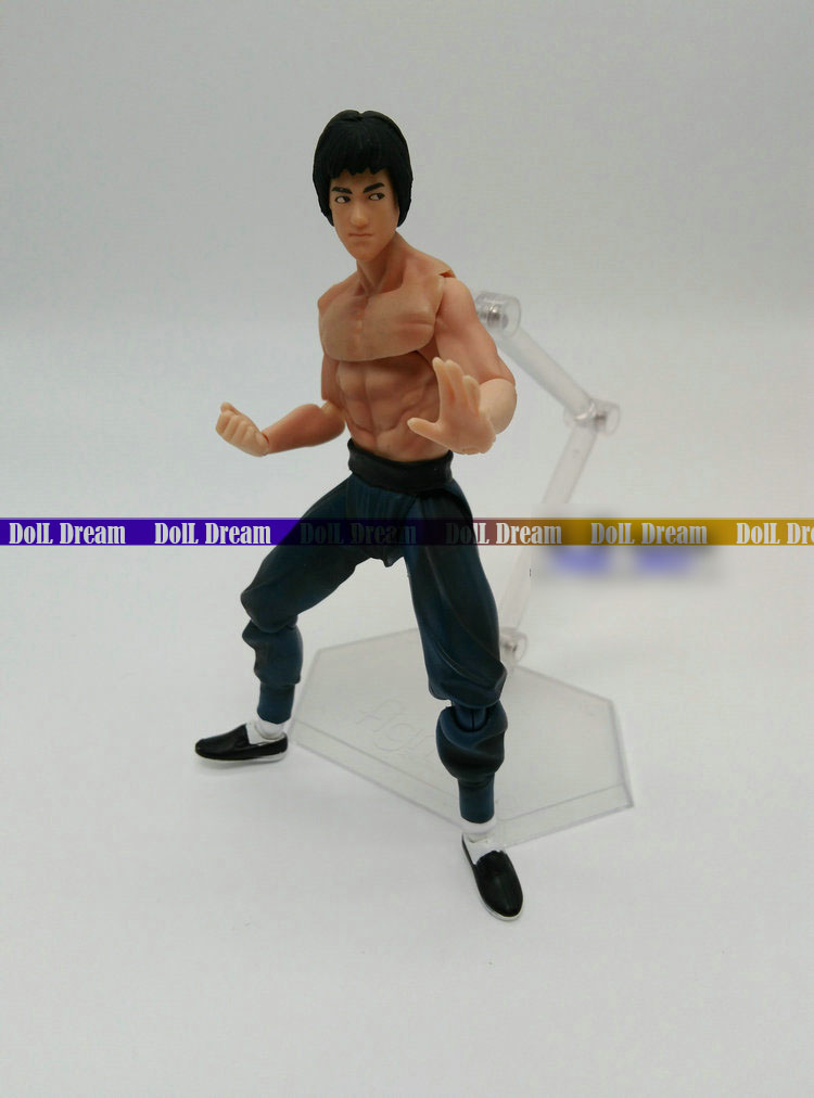 14CM Bruce Lee Fist of Fury Figma 266 Boxed PVC Action Figure Collectible Model Toy image