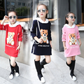 Children Clothing Fashion Korean Cute Bear Casual  O-neck Sweatshirt Baby Girl Clothes Autumn