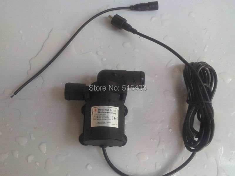 24Vdc Micro Brushless DC circulation pump 100C Lift 7.5M Flow 800LPH Low noise Absolutely safety For car circulation system
