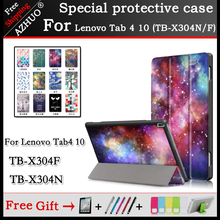 High Quality cover case For Lenovo TAB 4 10 10.1Tablet Pc ,Lenovo TB-X304N TB-X304F Flip Thin PU Leather Painting smart