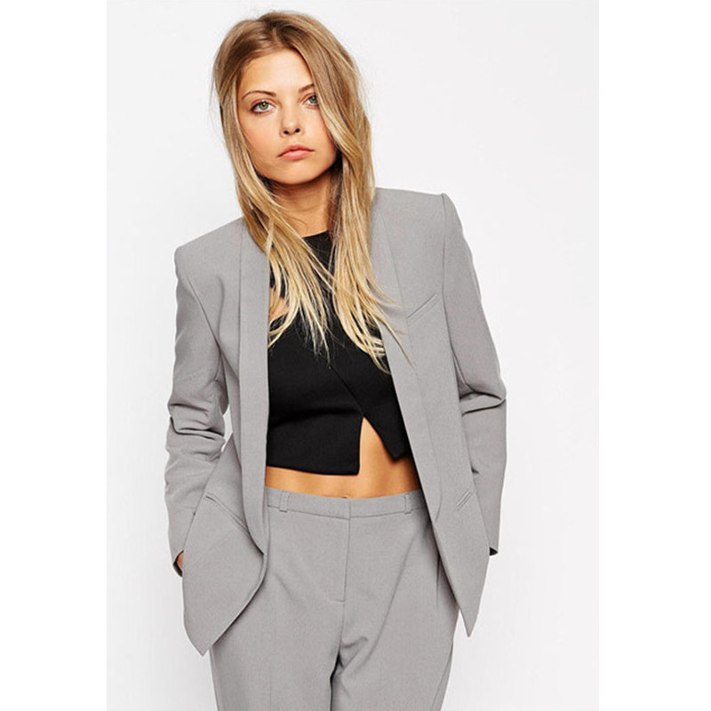 Limited Rushed Full Pantalones Mujer Custom Made Light Women Career Work Business Suits Formal Office Western-style Pants