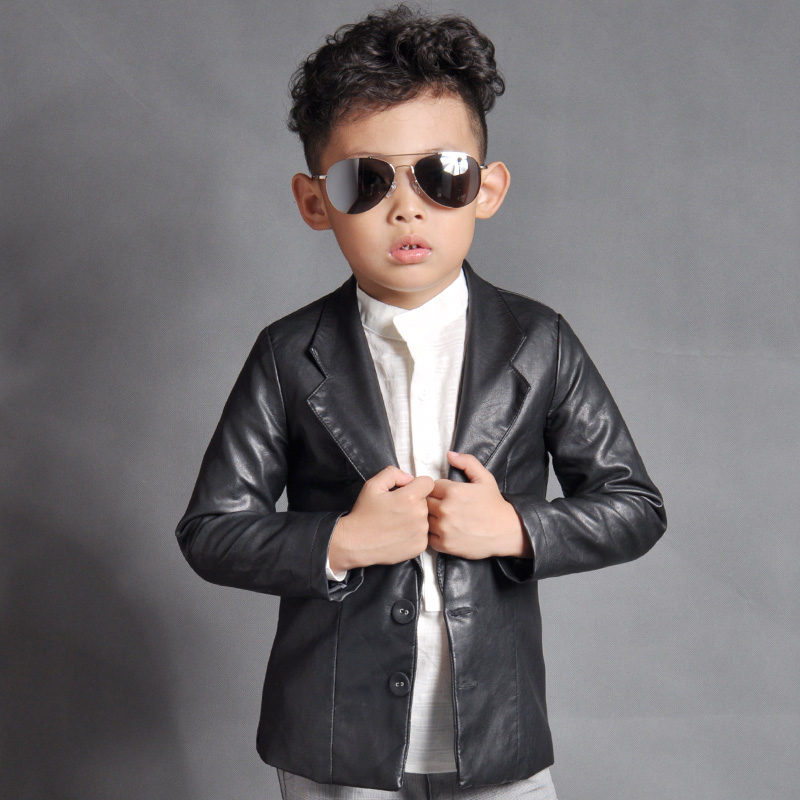 suit blue Picture - More Detailed Picture about Boys Autumn PU ...