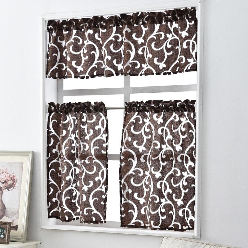 Short Kitchen Curtains Jacquard Window Treatments Modern Door Ready Made Luxury European Style Door Curtain Decorative Home
