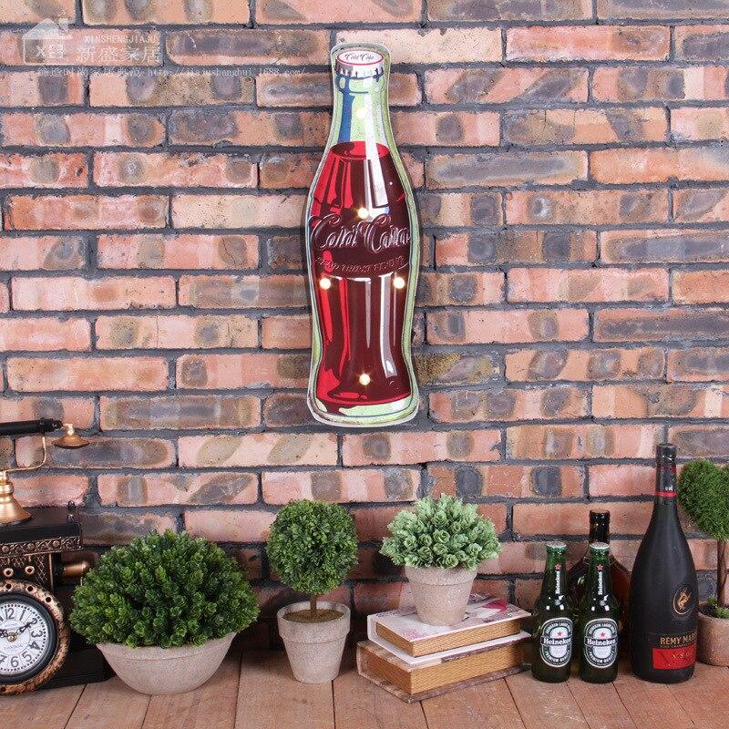 Led Sign Home Decor: LED Neon Sign Coke Vintage Home Decor Bar Cafe Shabby Chic