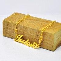 Toptan Carrie Adı Bilezik Kişiselleştirilmiş Etiket Charm Özel 925 Gümüş Takı pulsera armillam