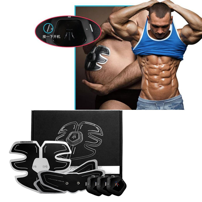Male Muscle Trainer Electric Smart EMS Abdominal Muscle Training Machine Fat Burner Abdomen Arm Massager Stimulator Device 30 portable electric smart fitness gear equipment slim massager ems electrical muscle stimulator muscle stimulator training gear