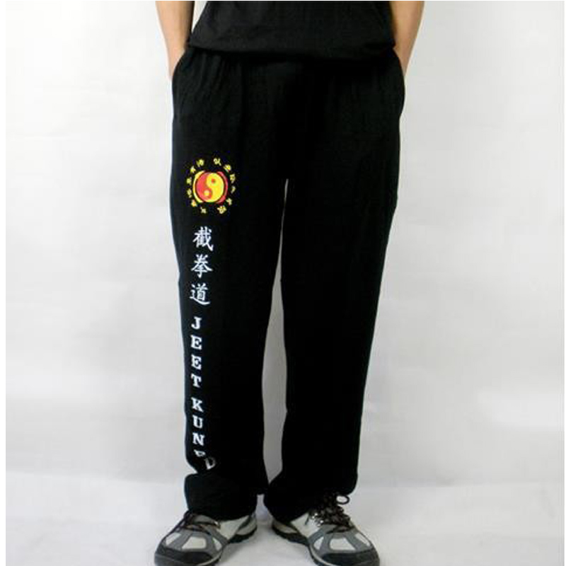 New Jeet Kune Do Pants Pure Cotton Martial Arts Training Exercise Trousers Kung Fu Sport Pants