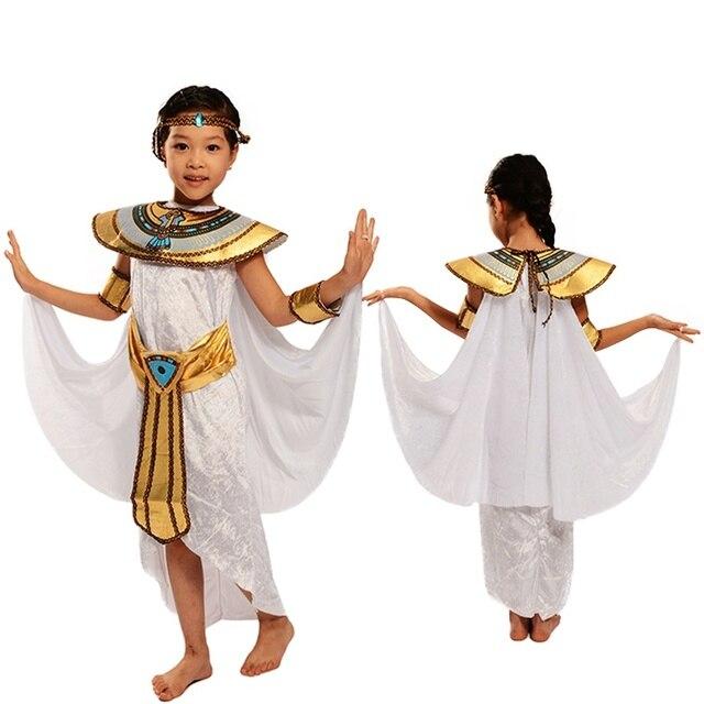 Children Boys Girls Cleopatra Halloween Costume Egyptian Princess Dress Up u0026 Role Play Prince Stage Performance  sc 1 st  AliExpress.com & Children Boys Girls Cleopatra Halloween Costume Egyptian Princess ...