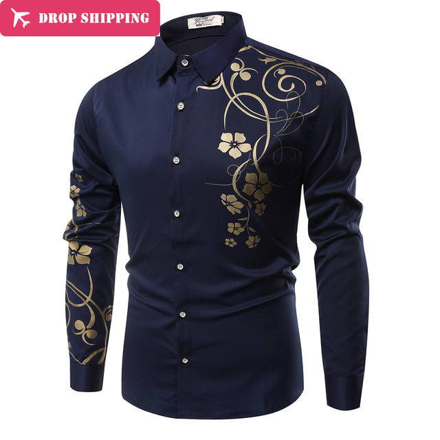 90ead079dec1 DropShipping 9 Colors Mens Dress Shirts Casual Shirts Type Slim Long Sleeve  Dressed Shirts Camisa Masculina